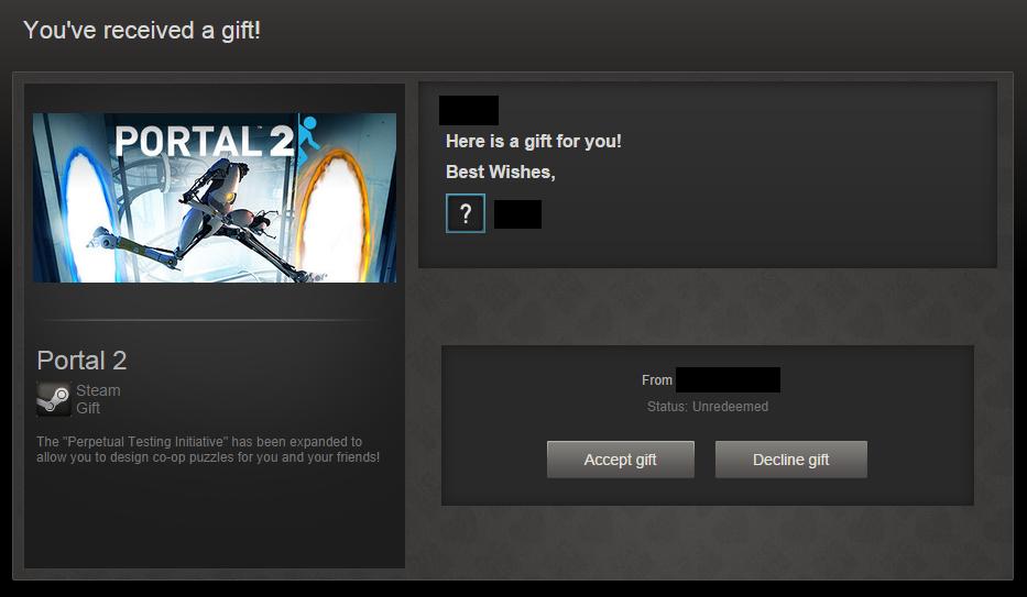 Я отменил подарок в стиме 472